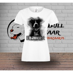 Koszulka Pitbull Sketch - Damska