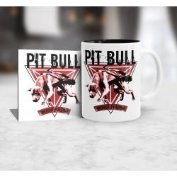 Kubek Pit Bull Weight pulling + podkładka