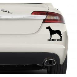 Naklejka na samochód - Dogo Argentino
