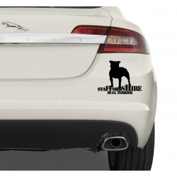 Naklejka na samochód - Staffordshire Bull Terrier