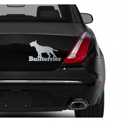 Naklejka na samochód - Bullterier