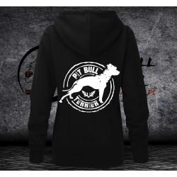 Bluza Pit Bull Terrier - Damska z kapturem - rozpinana