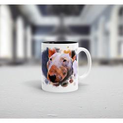Kubek  Bullterrier Heart + podkładka