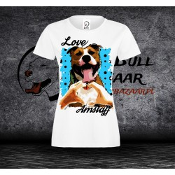 Koszulka Amstaff - love - Damska