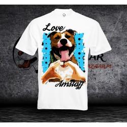 Koszulka Amstaff - love - Męska