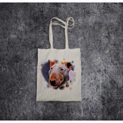 Torba bawełniana ecru - Bullterrier Heart